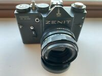 Export USSR  ZENIT-TTL Moscow 80  OLYMPICS  SLR camera  with Helios-44m lens (01