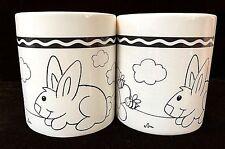 Coffee Mugs Cups Crayola Coloring Crayon Handle Teacher Gift set of 2