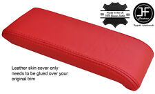 RED REAL LEATHER ARMREST LID COVER FITS VW BEETLE 2011-2017