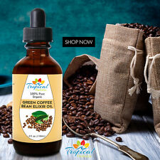 Anti-Cellulite Massage Green Coffee Bean Elixir Oil 4 oz - 100% Pure & Natural