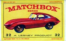 MATCHBOX LESNEY SERIE 1-75 E TYPE JAGUAR N° 32 32b b SCATOLA E4