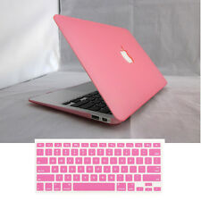 """2in1 Rubberized Matte Case Cover Skin for MacBook Air White Pro 11"""" 13"""" 15""""inch"""