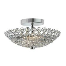 Home Decorators Collection Barclay 2-Light Chrome and Crystal Flush Mount