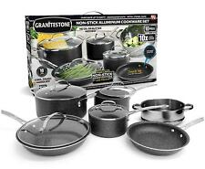 Granite Stone 10-Piece Nonstick Cookware Set Diamond Triple Coated, Black