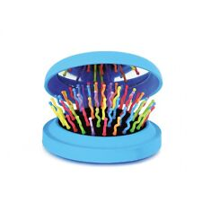 Spiegel Haarbürste Entwirrungsbürste Taschenbürste Bürste Klappbürste blau