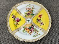 Antique German Meissen Porcelain Plate Courting Couple & Flowers Decoration