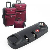 3 Digit Combination Padlock TSA Resettable Lock Luggage Suitcase Travel Bag Code