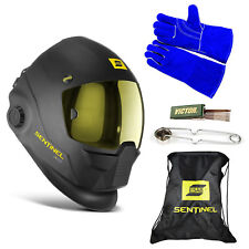 ESAB Sentinel A50 Automatic Helmet, BAG, WELDING GLOVE, STRIKER, & TIP CLEANER