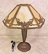 Ant Edwardian Slag Glass Lamp Works! From Estate of Descendant of General Seward