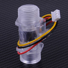 "5.5x2cm Water Flow Sensor Fluid Switch G1/2"" Meter Control Transparent Enclosure"