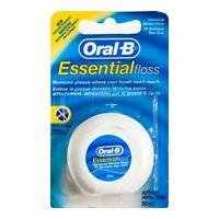 Oral-B Essential Non-Waxed Dental Floss Regular Plaque Removal - 50 Medium