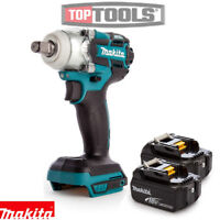 Makita DTW285Z 18V Brushless Impact Wrench Body With 2 x 4Ah Batteries