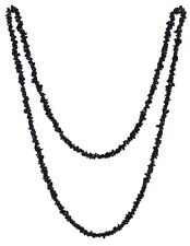 Edelstein Splitterkette lang Kette 80-90 cm Halskette endlos ohne Verschluss