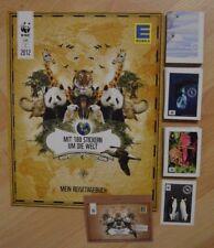 Edeka Mit 180 Stickern um die Welt 2012/komplett Leeralbum+alle 180 Sticker lose
