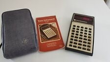 Vintage Texas Instruments Ti 30 Calculator Red Led Display Case Amp Manual