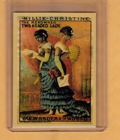 MILLIE CHRISTINE, THE TWO HEADED LADY CARNIVAL CIRCUS SIDESHOW REPRINT