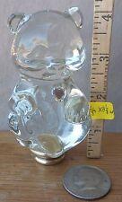 "Lamp Finial Crystal Leaded Glass Fenton Teddy Bear Mid Century 4 1/8""h x 2 1/8""w"