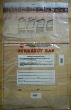19 x 28 Fed Reserve Approved Clear Plastic Bank Currency Bags, Pouch, Qty 100