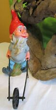 """Vtg 11"""" Heissner Gnome Elf with Wheelbarrow West Germany #943 ***AS IS***"""