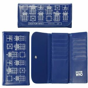 DOCTOR WHO TARDIS BLUEPRINT PURSE - SOFT TOUCH VINYL GREAT GIFT OFFICIAL BBC