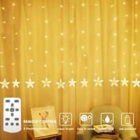 Star Detachable Curtain Lights, LEDGLE Starry Lights Twinkle String Lights Fairy