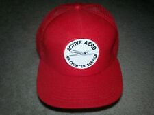 ACTIVE AERO AIR CHARTER SERVICE SNAPBACK HAT PLANE FOAM MESH TRUCKER 1980'S 90'S