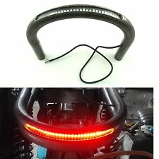 "7/8"" Tube Cafe Racer Brat Seat Frame Hoop Loop with LED Brake Turn Singal Light"