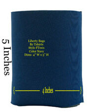 New listing Nwot Navy Blue Azul Ft001 Liberty bags insulated can holders Jersey cloth Koozie