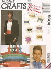 1980's VTG McCall's Belt and Tie Package  Pattern 5684 UNCUT