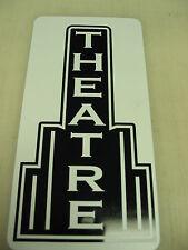 THEATRE Metal Sign Theater Bar Pool Pop Corn Machine Vintage Style