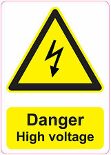 [ 205x290mm ] DANGER - HIGH VOLTAGE | health and safety | signs/stickers