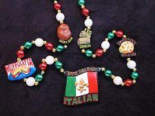 "NEW ORLEANS ""ITALIAN FLAG"" MG BEAD MUFFULETTA FIG COOKIE FAVA BEAN FOODS (B1023)"