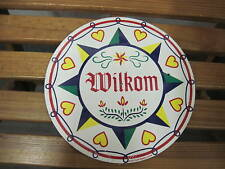 """24"""" PA Dutch Hex Sign-Wilkom H-13 Good Luck and Happiness Made In The USA"""