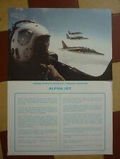 DOCUMENT AVIONS DASSAULT BREGUET AVIATION DORNIER ALPHA-JET CASQUE ULMER PILOTE