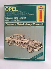 OPEL RECORD HAYNES SERVICE & REPAIR MANUAL. 1978-84