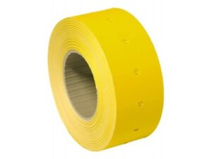 10,000 Yellow Permanent 22mm x 12mm (21mm x 12mm) CT1 Price Gun Labels 8 Rolls