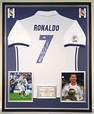 Premium Framed Cristiano Ronaldo Autographed Real Madrid Soccer Jersey Shirt Psa