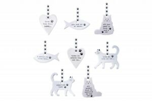 Ceramic hanging Cat Sentiment Plaque Sign Decoration Christmas Birthday GB04361