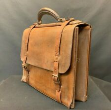 Crouch & Fitzgerald Leather Lawyers Briefcase