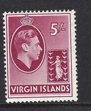 Virgin Islands KGVI 1938-47 5s carmine (chalk) SG119 LMM. SEE SCANS.
