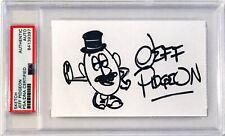 Jeff Pidgeon Toy Story Signed 3x5 Index Card W/ Original Sketch PSA/DNA Slab (B)