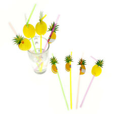30pcs Cute 3D Pineapple Straw Flexible Plastic Drinking Straws Pool Party Decors