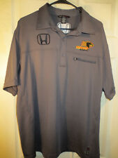 North End Sport PANTHER RACING Gray Polo Shirt Indy Car HONDA Auto JR Size Large