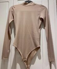 Cameo Rose Size 8 Nude Backless Bodysuit Ribbed New Look Boutique