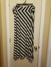 Jaclyn Smith womens long striped maxi skirt size 2X