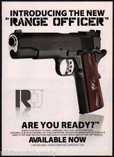 2011 SPRINGFIELD ARMORY Range Officer 1911 Pistol Photo AD Advertising