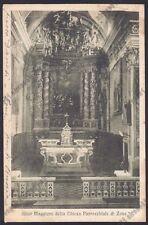 BRESCIA ZONE 04 INTERNO CHIESA - ALTARE Cartolina viaggiata 1935