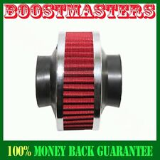 """Universal 3"""" Performance Cold Air Intake Bypass Filter Valve Pipe Rubber RED"""