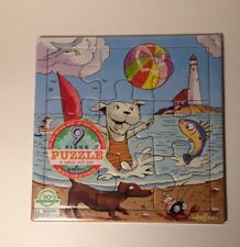 9 Pc A Great Hot Day EEBOO Puzzle Toddler NEW Ages 3+ Dogs Quality Sturdy