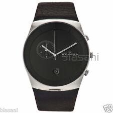 Skagen Original SKW6070 Men's Havene Black Leather Watch 42mm